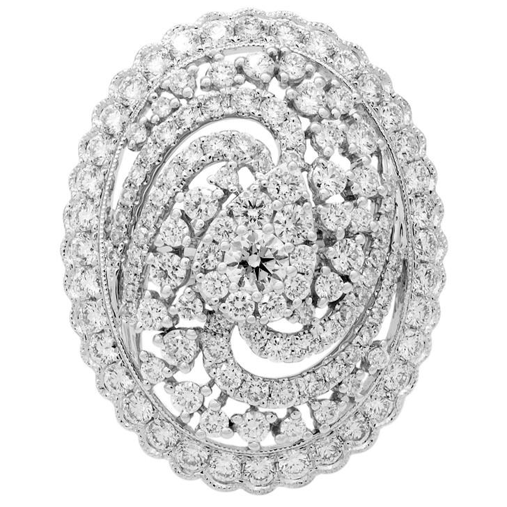 18K White Gold 1.86 Carat Diamond Ring