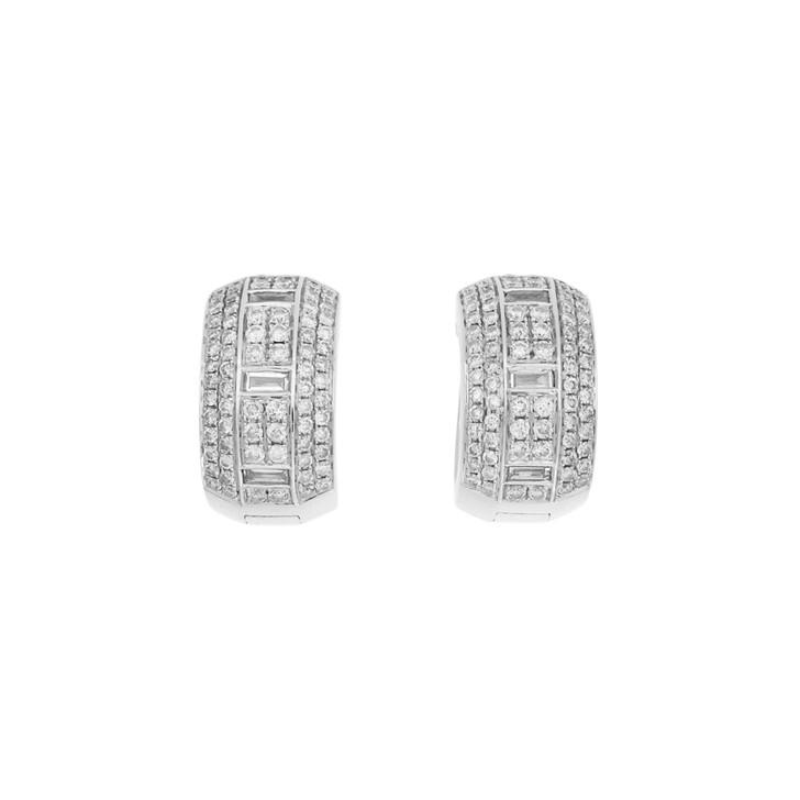18K White Gold 2.06 Carat Diamond Earrings