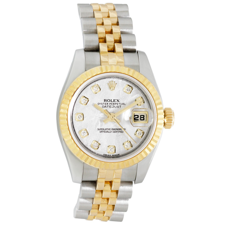 Rolex 18K & Stainless Steel  Ladies Datejust  179173
