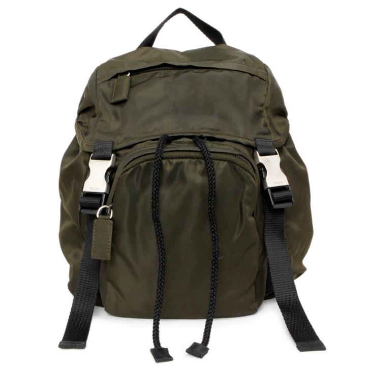 Prada Dark Green Tessuto Montagna Backpack