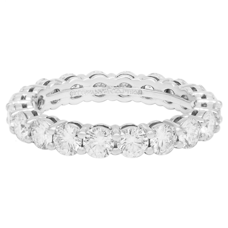 Tiffany & Co. Platinum & Diamond Embrace Band Ring
