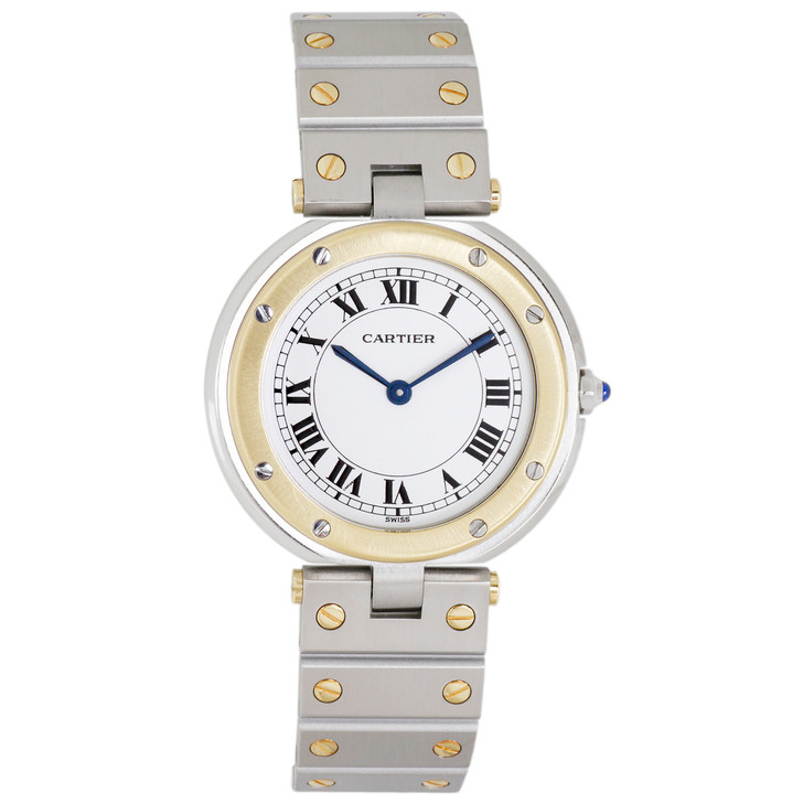 Cartier Stainless Steel & 18K Yellow Gold Santos Vendome