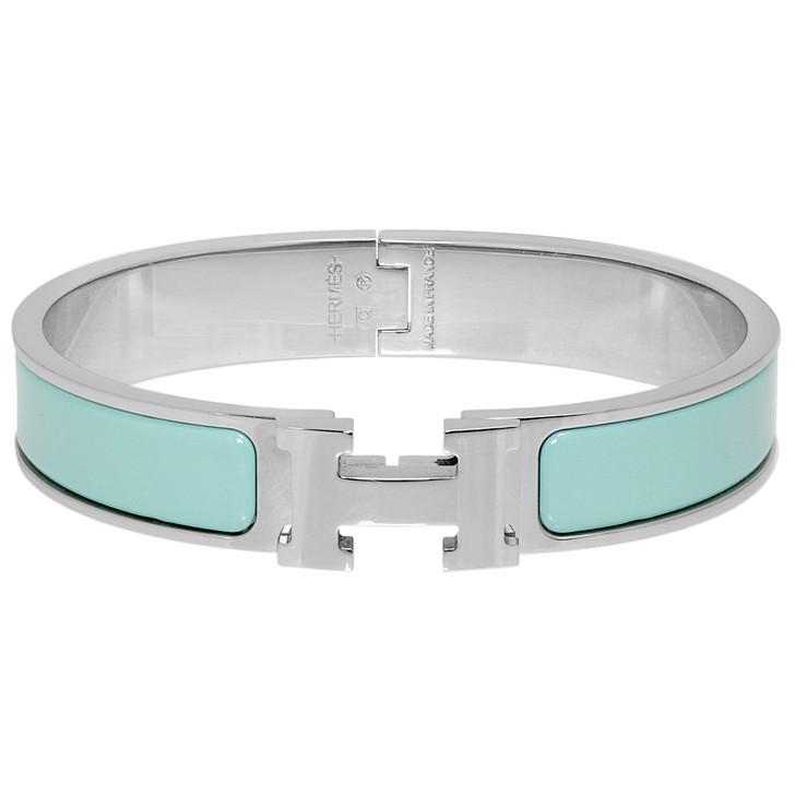 Hermes Lagoon Enamel Clic H Bracelet