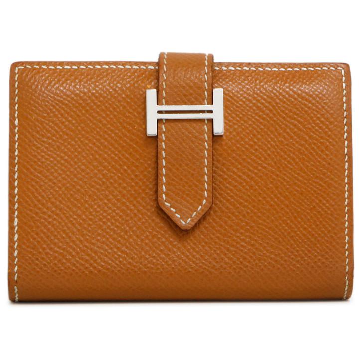 Hermes Gold Epsom Bearn Mini Wallet