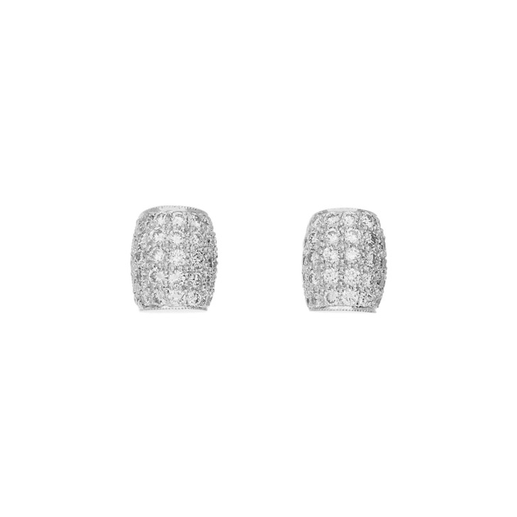 18K White Gold 0.95 Carat Earrings