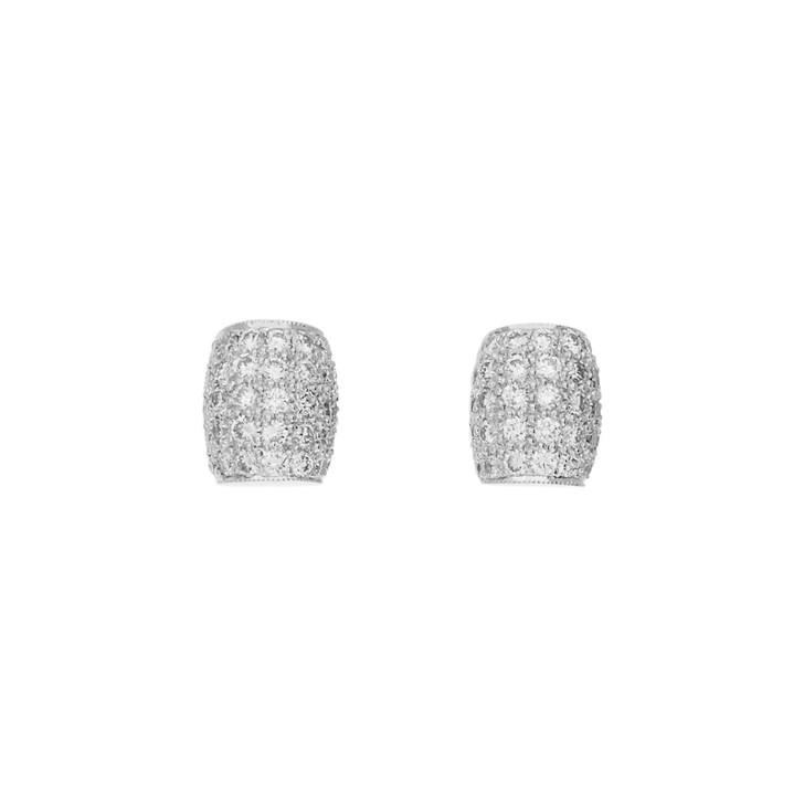 18K White Gold 0.95 Carat Earrings