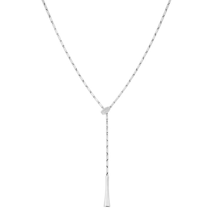 Chimento 18K White Gold Bamboo Lariat Necklace