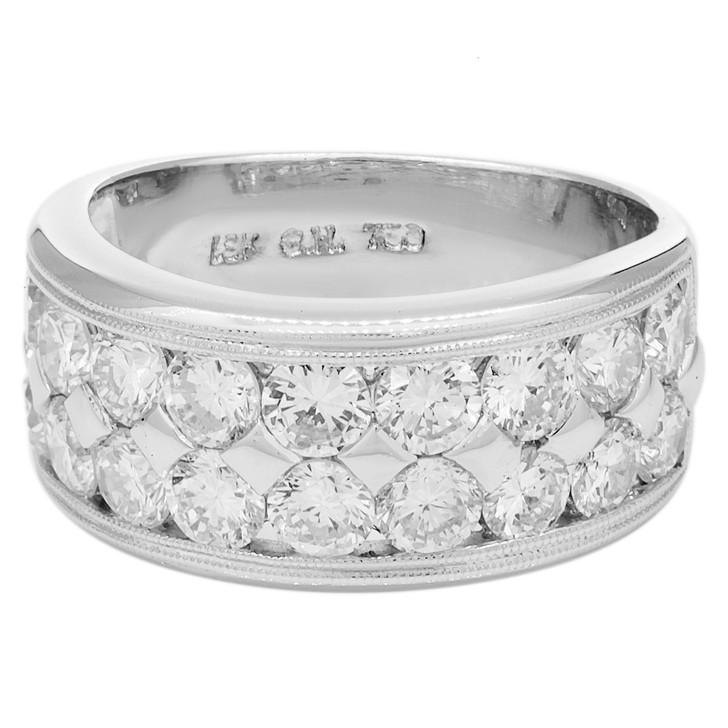 18K White Gold 2.40 Carat Diamond Ring