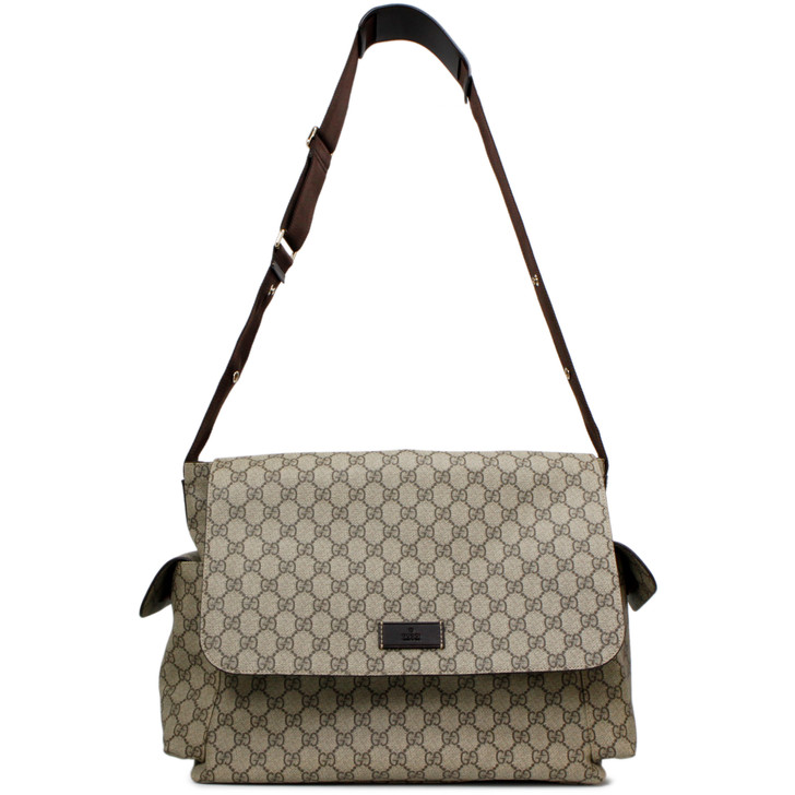 Gucci GG Plus Monogram Messenger Diaper Bag
