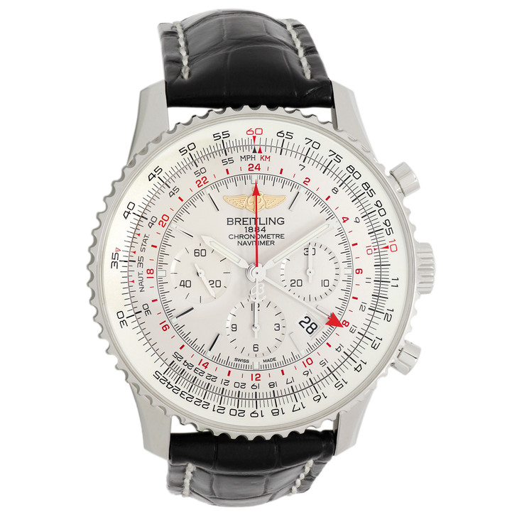 Breitling Stainless Steel Navitimer GMT Chronograph AB044121