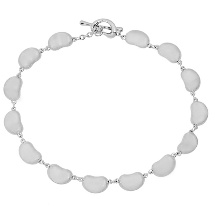 Tiffany & Co. Sterling Silver Bean Design Toggle Bracelet