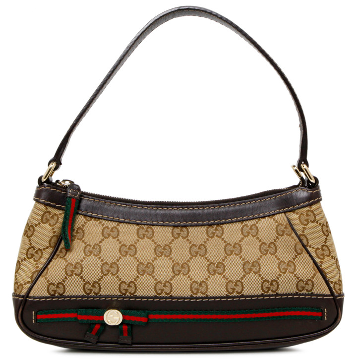 Gucci Dark Brown Monogram Small Mayfair Bag