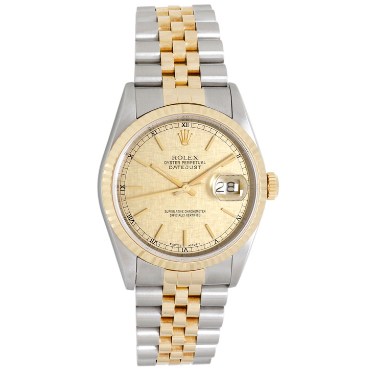 Rolex 18K Yellow  Gold & Stainless Steel Datejust 16233