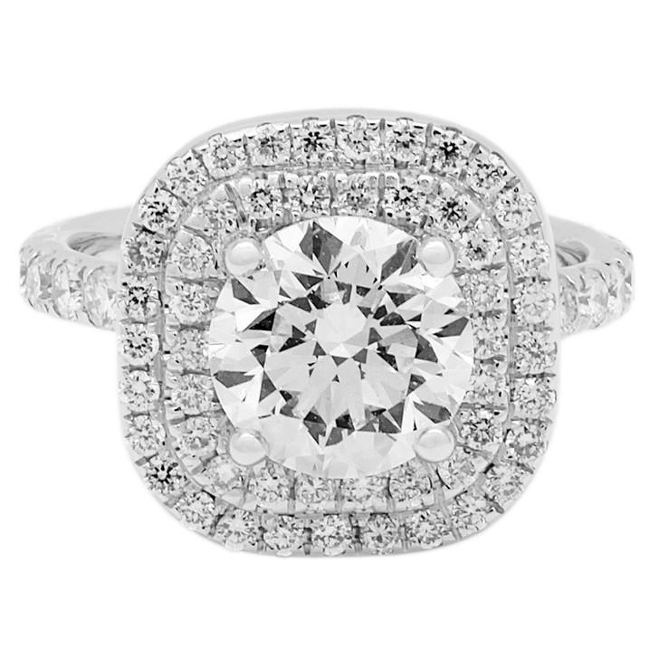 18K White Gold 1.38 Carat Diamond Ring