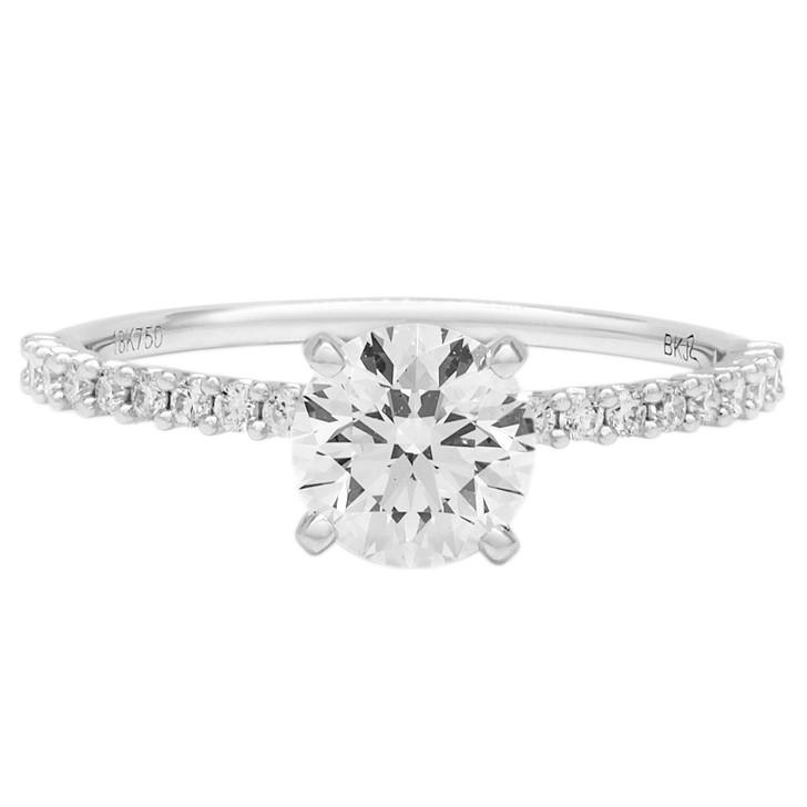 18K White Gold 0.71 Carat Diamond Ring