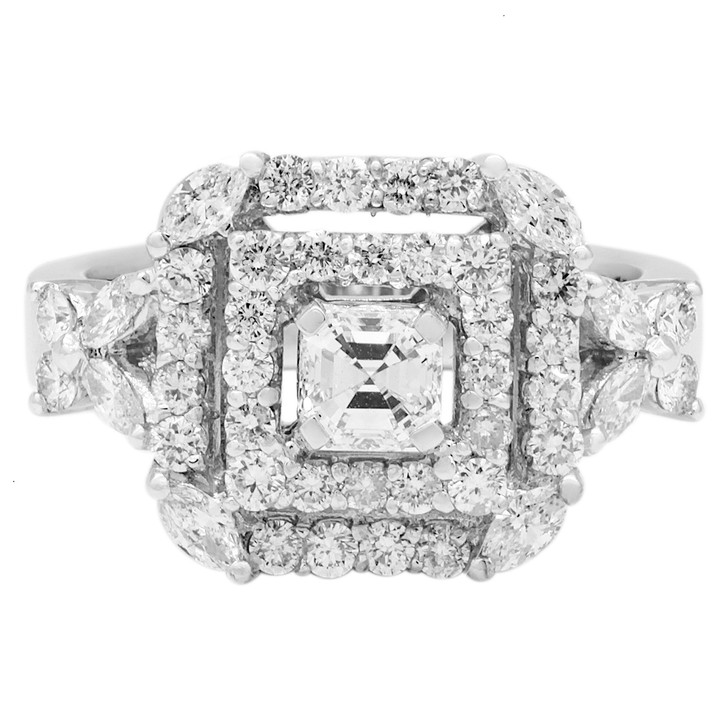 18K White Gold 1.59 Carat Diamond Ring