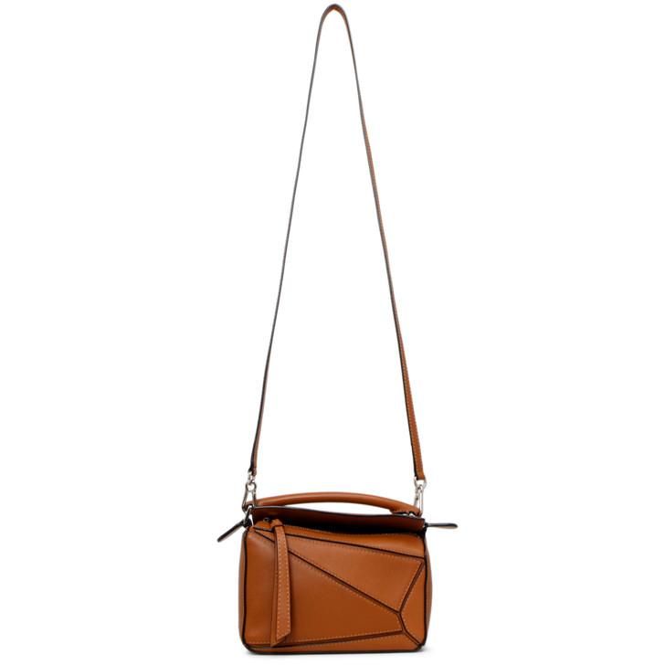 Loewe Tan Calfskin Mini Puzzle Bag