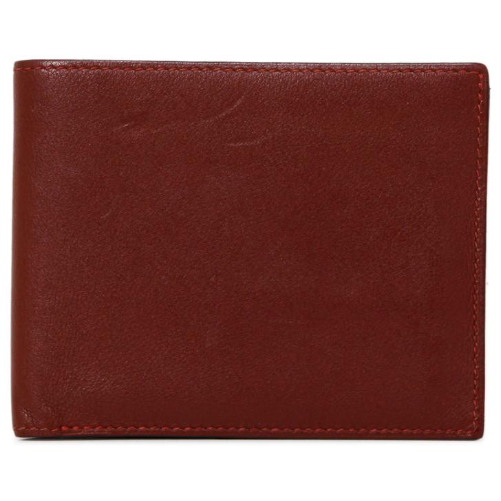 Hermes Burgundy Swift Citizen Twill Compact Wallet