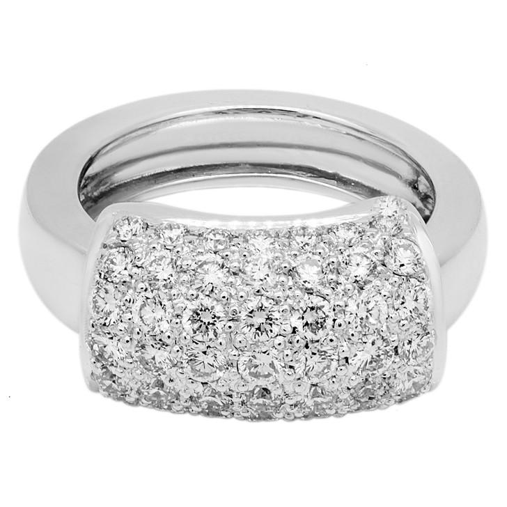 18K White Gold 1.48 Carat Diamond Sliding Ring