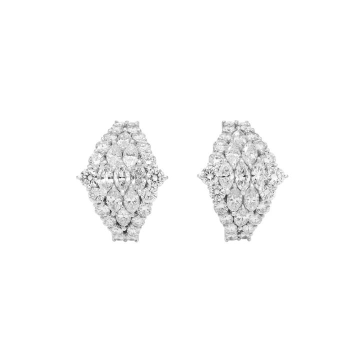 18K White Gold 3.80 Carat Diamond Earrings