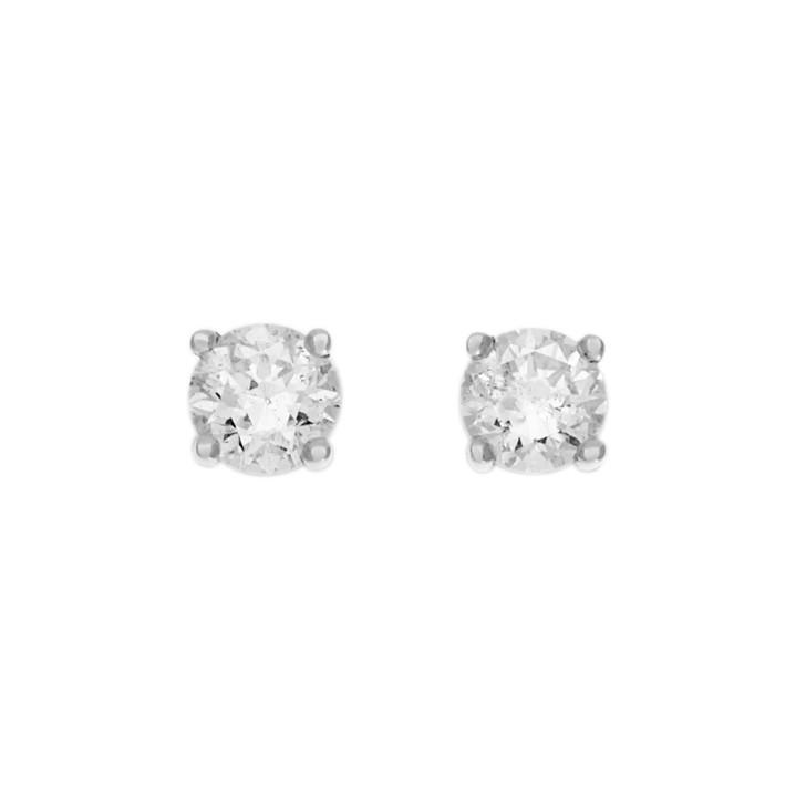 14K White Gold 0.96 Carat Diamond Stud Earrings