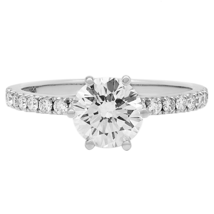 18K White Gold 1.05 Carat Diamond Ring