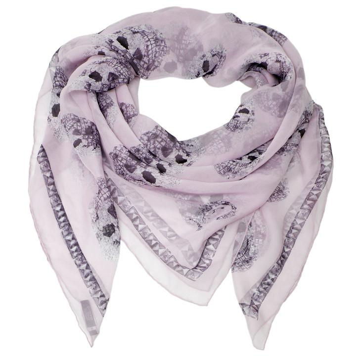 Alexander McQueen Lilac Silk Skull Scarf