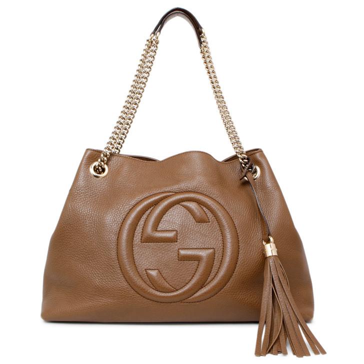 Gucci Brown Medium Soho Chain Shoulder Bag