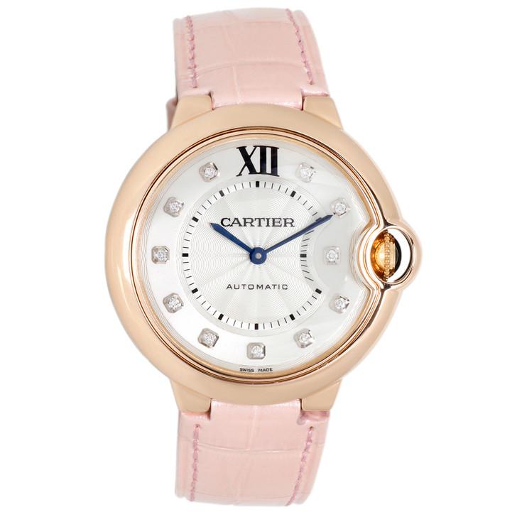 Cartier 18K Pink Gold & Diamond Ballon Bleu Automatic Watch