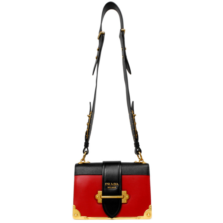 Prada City Calf & Saffiano Cahier Bag