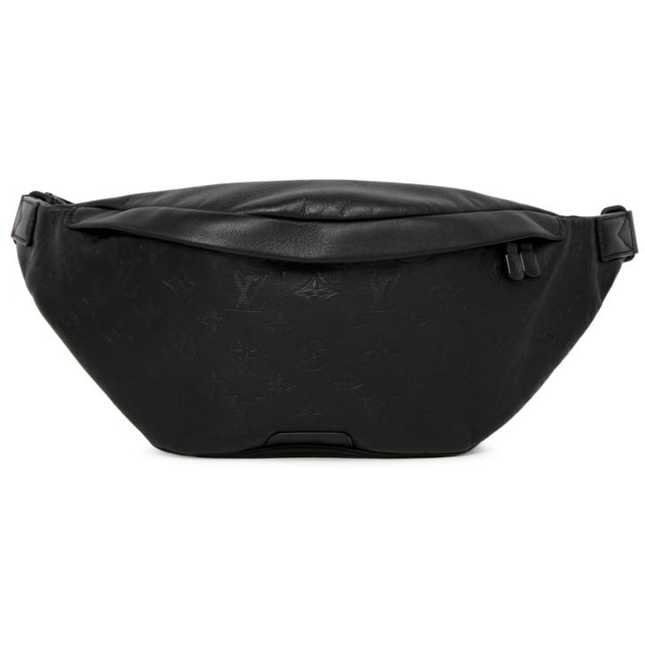 Louis Vuitton Black Calfskin Monogram Shadow Discovery Bumbag