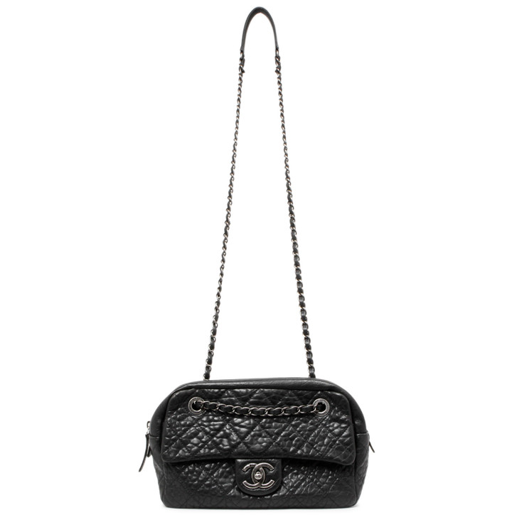 Chanel Black Quilted Calfskin Camera Case  Bag