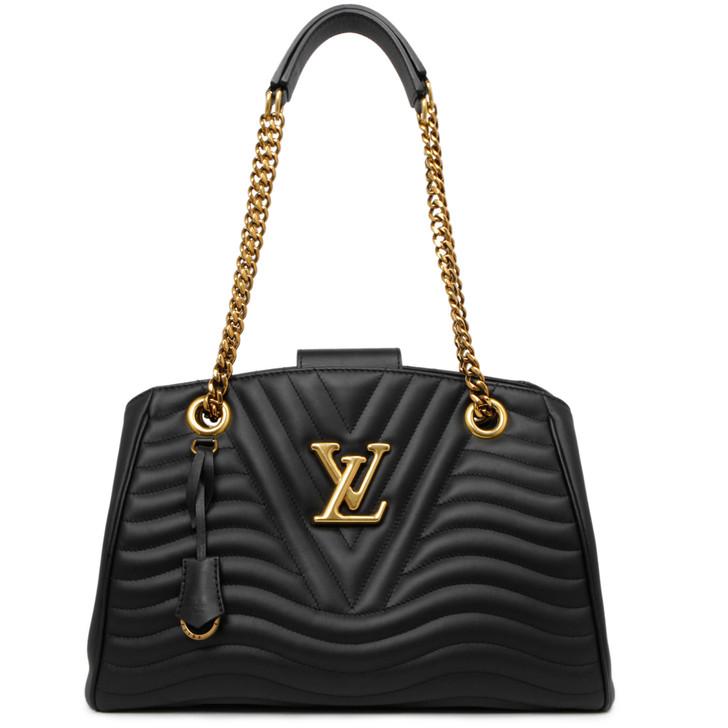 Louis Vuitton Noir Calfskin New Wave Chain Tote