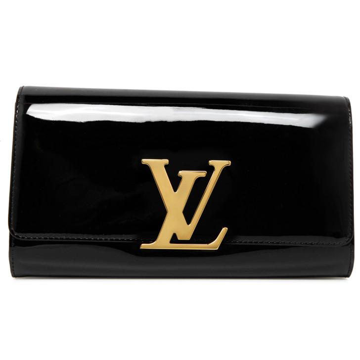 Louis Vuitton Black Patent Louise Clutch