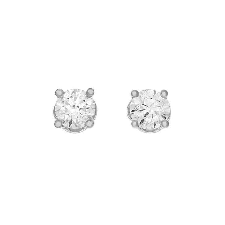 18K White Gold 1.24 Carat Diamond Stud Earrings