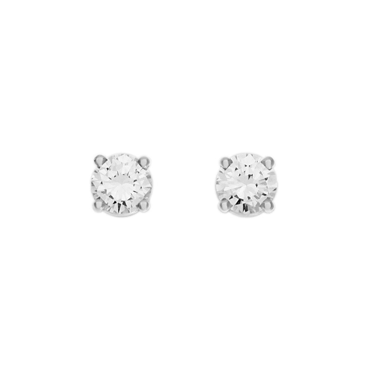 18K White Gold 0.44 Carat Diamond Stud Earrings