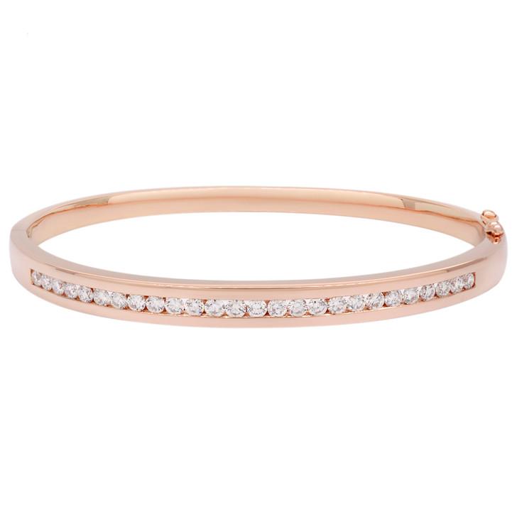 14K Rose Gold 1.12 Carat Diamond Bracelet