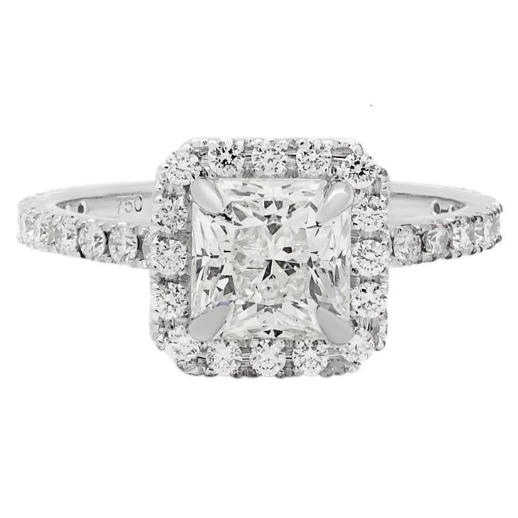 18K White Gold 1.18 Carat Radiant Cut Diamond Ring