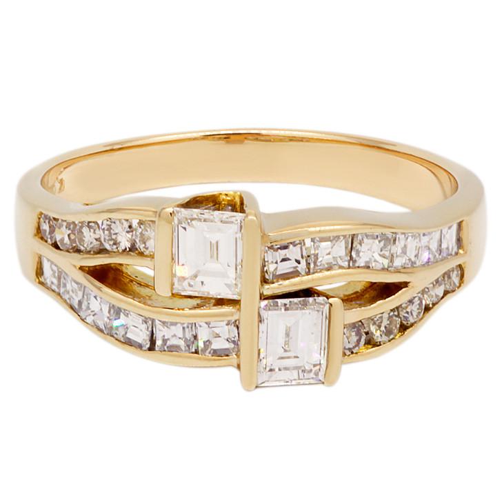 14K Yellow Gold 0.76 Carat Diamond Ring