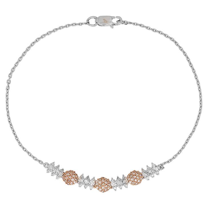 18K White & Rose Gold 0.57 Carat Diamond Bracelet