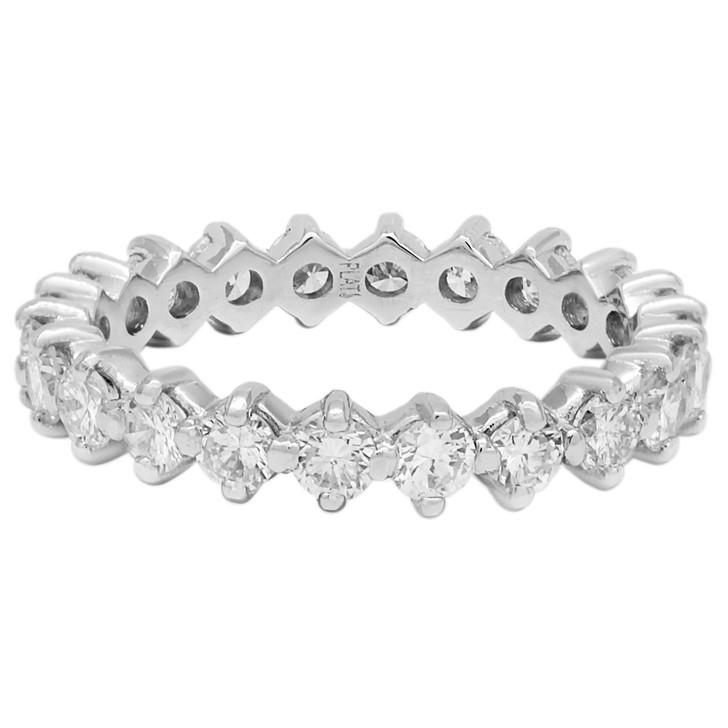 Platinum 1.32 Carat Diamond Eternity Band