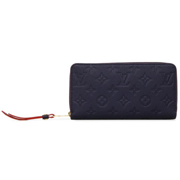 Louis Vuitton Marine Rouge Empreinte Zippy Wallet