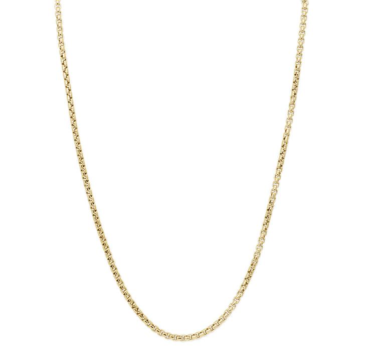 David Yurman 18K Yellow Gold 3.6mm Medium Box Chain Necklace