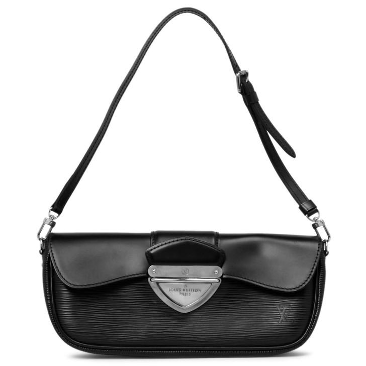 Louis Vuitton Black Epi Montaigne  Clutch