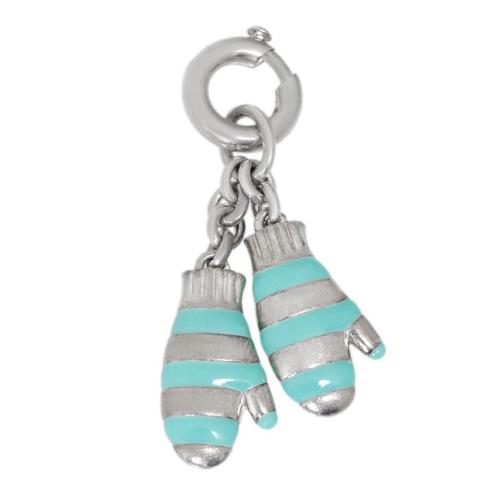 Tiffany & Co. Sterling Silver Enamel Mittens Charm