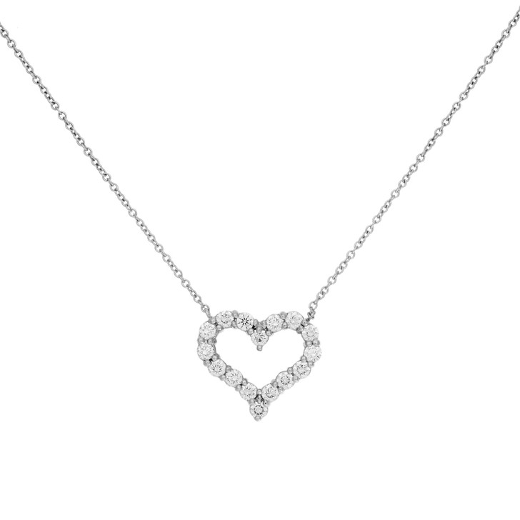 Tiffany & Co. Platinum & Diamond Small Hearts  Pendant