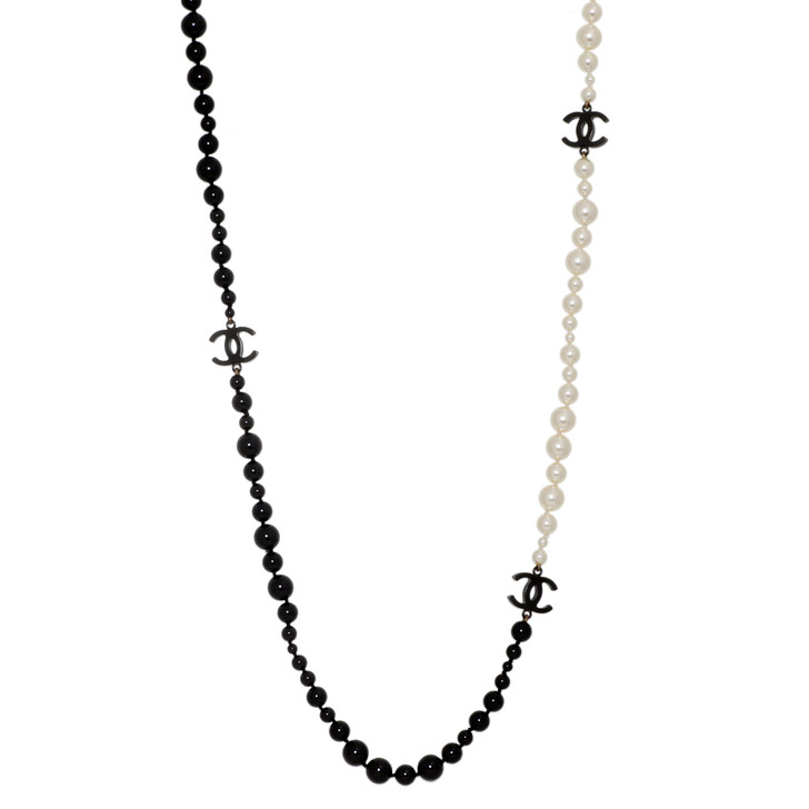 Chanel Pearl & Bead 'CC' Necklace