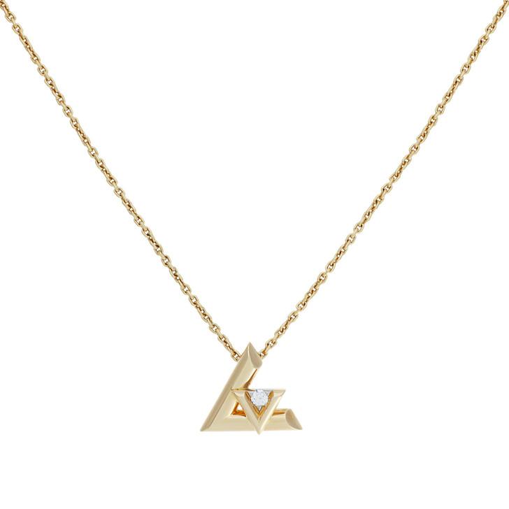 Louis Vuitton 18K Yellow Gold & Diamond Small Volt One Pendant