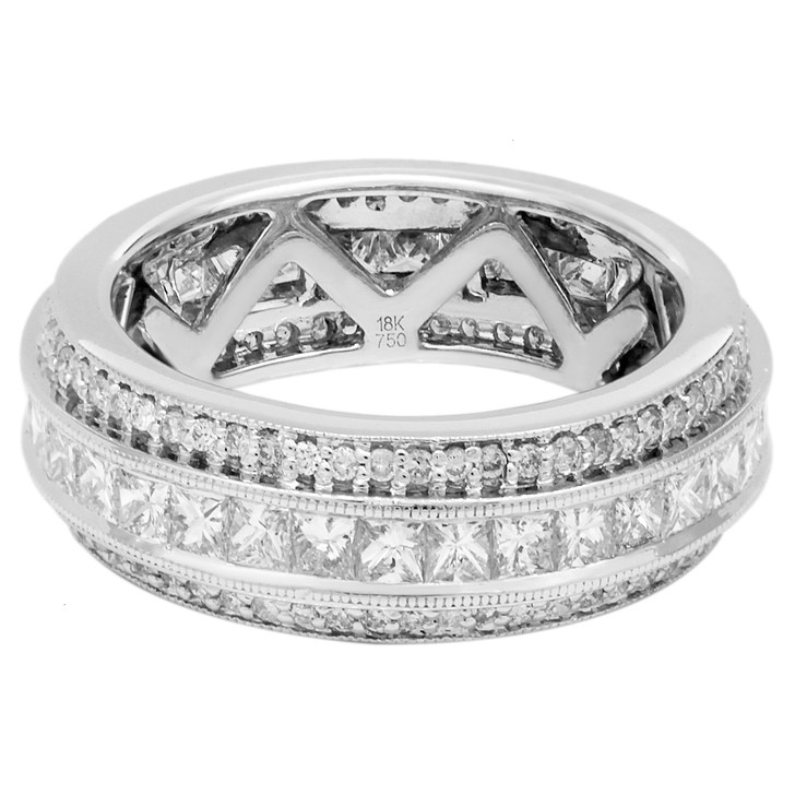 18K White Gold 2.15 Carat Diamond Eternity Ring