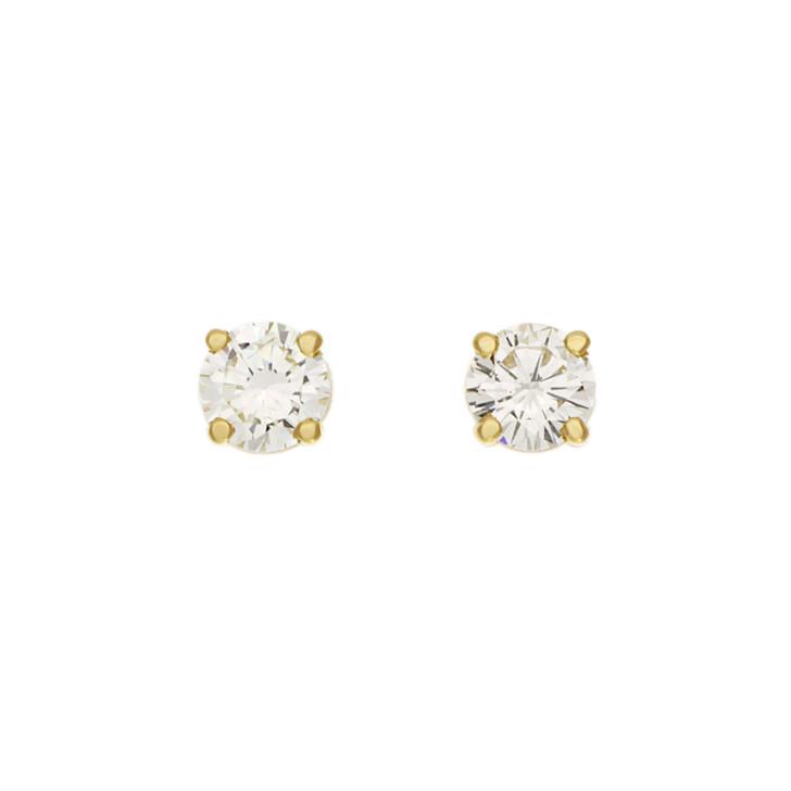 18K Yellow Gold 0.80 Carat Diamond Stud Earrings